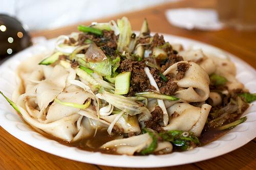 zha jiang noodles @ xian foods